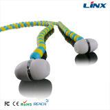Il cristallo del MP3 del fornitore borda il trasduttore auricolare di colore chiaro della cuffia dalla fabbrica della cuffia di Linx