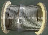 Acier inoxydable de câble métallique 7*19
