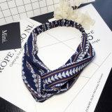 Acessórios listrados do cabelo de Hairbands Headwrap da flor floral transversal elástica boémia das meninas do turbante de Boho dos Headbands do estilo para mulheres
