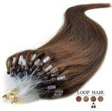 Micro estensioni dei capelli umani dell'anello del ciclo con capelli naturali