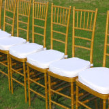 Outdoor WeddingのためのプラスチックGolden Resin Chiavari Chair