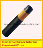 Tubo flessibile idraulico del petrolio del tubo flessibile del coperchio di gomma della tessile