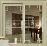Portello scorrevole di disegno di modo con doppio vetro per il salone