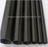 rodillo 3k que envuelve el tubo de la fibra del carbón, tubo de la fibra del carbón/poste