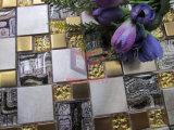 Mosaico di vetro della miscela dell'acciaio inossidabile di disegno moderno di colore dell'oro (CFM1014)