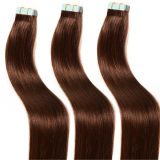 "18 "" 20 "" 22 "" 24 "" 4X0.8cm 100g/Pack Invisible Double DrawnブラジルのOmbreインドのRemy Wholesale Cheap Curly Tape Hair Extensions"