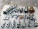 Montaggi di estremità idraulici materiali bianchi del tubo flessibile del acciaio al carbonio