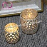小さい星が付いている高品質のモザイク・ガラスの蝋燭ホールダーの蝋燭のコップ