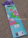 Bolsa de papel de encargo de la botella de vino de la impresión con la congregación del diseño acabado
