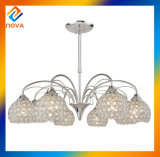Светильник канделябра СИД кристаллический привесной светлый самомоднейший кристаллический для дома