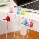 Rabbit Cable Drop Clip Desk Tidy Organizer Wire Cord USB Chargeur Holder