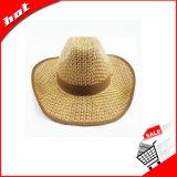 Chapéu de palha oco da arremetida do chapéu de palha do vaqueiro do chapéu de palha do chapéu de palha