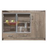 Cabina de madera del té de los muebles modernos del hotel con las puertas de cristal (HY-C07)
