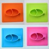 A Patim-Prova quadrada caçoa o silicone Placemats da refeição