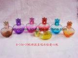 Mini perfume de la alta calidad/botellas de cristal de la fragancia con el casquillo
