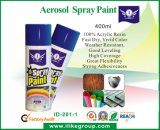 Resplandor en capa de pintura oscura del aerosol