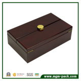 Boîte en bois ouverte à vin de double fabriqué à la main de bonne qualité
