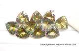 Yellow Fire - Cuarzo de Corte Cóncavo Místico para Joyería