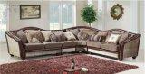 居間の家具のための革の3 PCSのソファー、Loveseat及び椅子及びシュニール