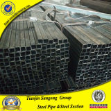 50X50 sección hueco cuadrada galvanizada tubo del cuadrado del soldado enrollado en el ejército del tubo del acero del ms carbón