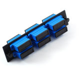 Alta calidad LC Quad APC UPC 4 Núcleos de fibra óptica adaptador estándar