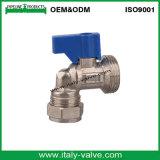 Латунные локоть стиральной машины/шариковый клапан (AV6005)
