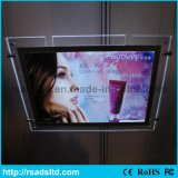 Cadre transparent en cristal neuf d'éclairage LED de cadre de tableau de modèle