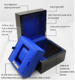 Коробка черного высокого вахты лака лоска одиночного деревянного упаковывая