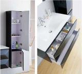 Het hete MDF van de Verkoop Moderne Zwarte Kabinet van de Badkamers met Gootsteen (sw-1316)