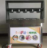 Machine frite grand par grand dos de crême glacée de roulis avec le cadre 6