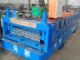 Rullo d'acciaio del tetto di colore di doppio strato che forma macchina