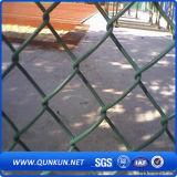 PVC運動場のための上塗を施してあるチェーン・リンクの塀