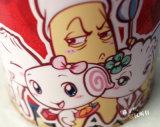 taza cambiante del color de cerámica de la taza de la sublimación 11oz con la maneta del corazón