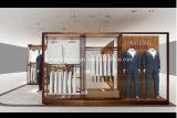 De marmeren Montage van de Winkel van de Vertoning van de Basis voor de Mensen die van de Luxe de Decoratie van de Winkel kleden
