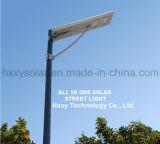 A intégré tous dans un réverbère solaire de DEL avec le prix usine