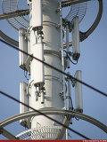 De stevige Toren van de Telecommunicatie van het Staal van de Hoek met Uitstekende kwaliteit