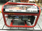 3kw 전기 발전기 힘 엔진 침묵하는 가솔린 발전기