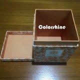 Коробка подарка упаковки бумаги свечки квадратного высокого качества красная с серой доской