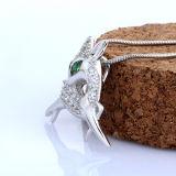 Collana Pendant Cervo-A forma di intarsiata di Crytal dell'argento sterlina 925 con la catena
