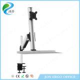 Elevación de gas Ponte de pie de estación de trabajo / soporte del monitor con el teclado (JN-WS11)