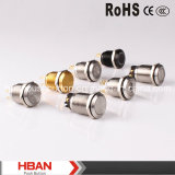Anel-Illumination Momentary Latching Vandalproof Push Button Switch de RoHS do CE de Hban (19mm)