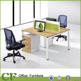 Bureau simple tête à tête de poste de travail de bureau de 2 personnes