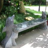 Banc extérieur de jardin de meubles de granit et de marbre