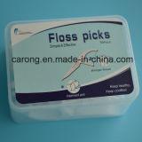 Orale Sorgfalt-zahnmedizinische Toothpicks und Glasschlacke