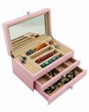 Contenitore di regalo dell'imballaggio dei monili di colore di rivestimento dentellare del Matt/caso di legno