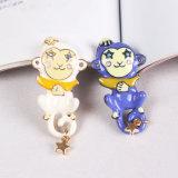 Conjunto de jóias de moda com broche de personagens de desenhos animados bonitos