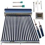 Colector de energía solar a presión del calentador de agua del acero inoxidable, colector solar solar de alta presión de los tubos de vacío del tubo de calor de la energía solar 20 del calentador de agua caliente