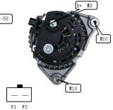 12V 136A Alternator voor Bosch Dodge Lester 11235 0124525105