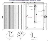 36V 245W 250W 255W Monocrystalline Solar Panel PV Module