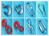 Beleg-Haken-/Cable-Haken des Großhandelsabstecken-verzinkter Augen-H-324/Schnellhaken